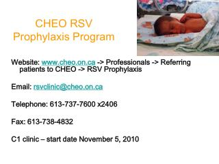 CHEO RSV Prophylaxis Program