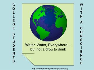 Water, Water, Everywhere… but not a drop to drink