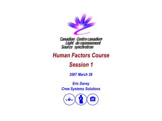 Human Factors Course Session 1