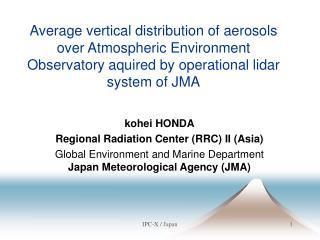 kohei HONDA Regional Radiation Center (RRC) II (Asia)