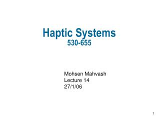 Haptic Systems 530-655