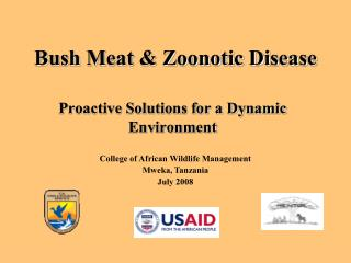 Bush Meat & Zoonotic Disease