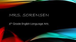 Mrs. Sorensen