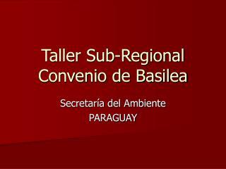 Taller Sub-Regional Convenio de Basilea