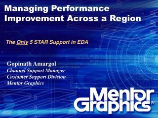 Managing Performance Improvement Across a Region