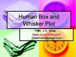 Human Box and Whisker Plot