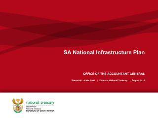 SA  National Infrastructure Plan