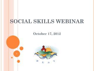 SOCIAL SKILLS WEBINAR