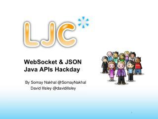 WebSocket & JSON Java APIs Hackday