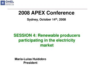SESSION 4: Renewable producers participating in the electricity market