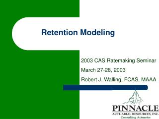 Retention Modeling