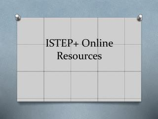 ISTEP+ Online Resources