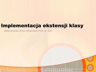 Implementacja ekstensji klasy