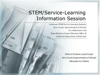 STEM/Service-Learning Information Session