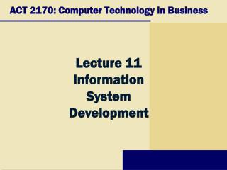 ACT 2170: Computer Technology in Business