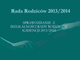 Rada Rodziców 2013/2014
