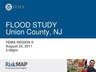 FLOOD STUDY Union County, NJ