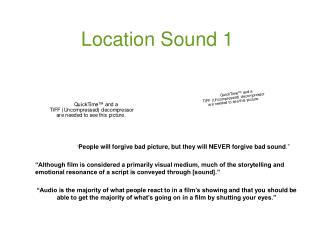 Location Sound 1