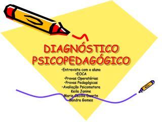 DIAGN STICO PSICOPEDAG GICO