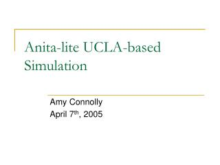 Anita-lite UCLA-based Simulation