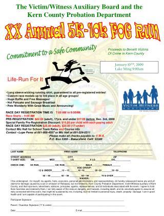 XX Annual 5K-10k FOG RUN