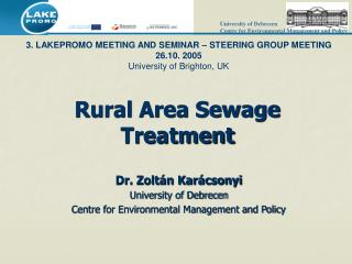Rural Area Sewage Treatment