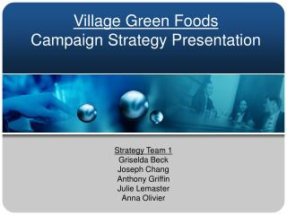 Village Green Foods Campaign Strategy Presentation