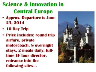 Science & Innovation in Central Europe