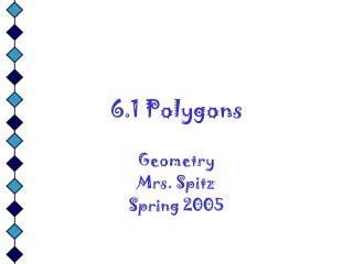 6.1 Polygons