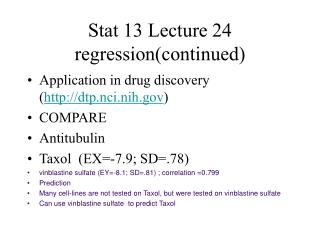 Stat 13 Lecture 24 regression(continued)