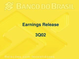 Earnings Release