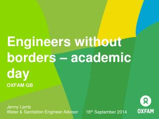 Engineers without borders � academic day