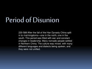 Period of Disunion