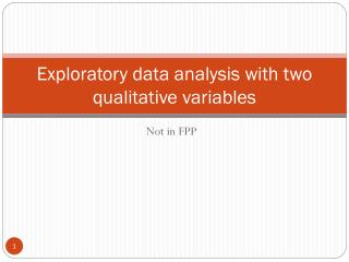 Exploratory data analysis with two qualitative variables