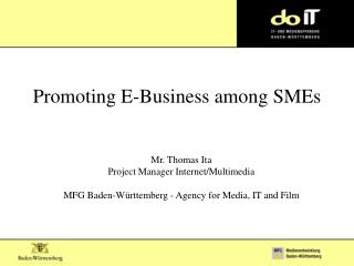 Promoting E-Business among SMEs