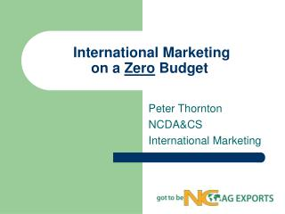 International Marketing  on a  Zero  Budget