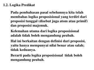1.2.  Logika Predikat
