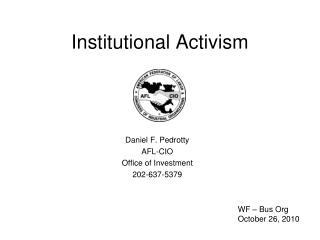 Institutional Activism