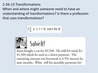 2-26-13 Transformations
