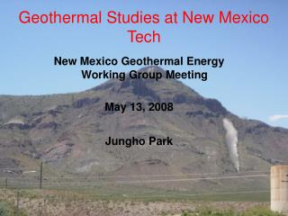 Geothermal Studies at New Mexico Tech