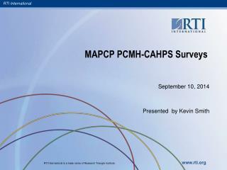 MAPCP PCMH-CAHPS Surveys