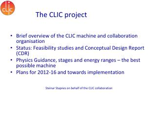 The CLIC project