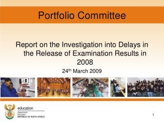 Portfolio Committee