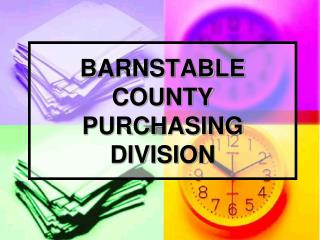 BARNSTABLE COUNTY PURCHASING DIVISION