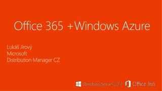 Office  365  +Windows Azure