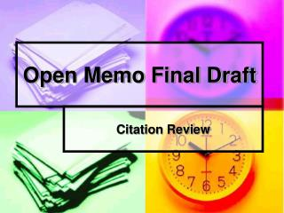 Open Memo Final Draft