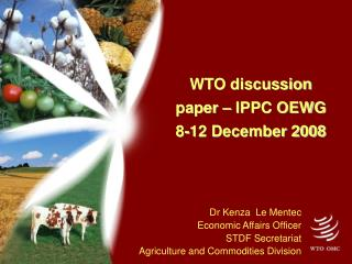 WTO discussion paper – IPPC OEWG 8-12 December 2008