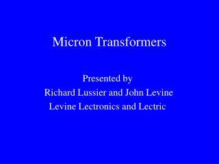 Micron Transformers