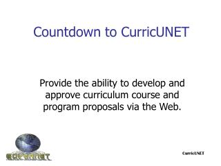 Countdown to CurricUNET