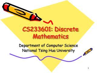 CS233601: Discrete Mathematics